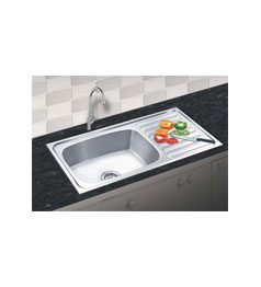 Nirali Stainless Steel Sink Single Bowl with Drain Board - Chhabrias ...