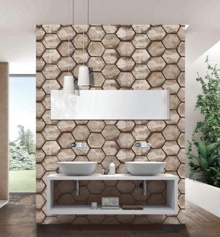 Spanish Ceramic Wall Tiles Decor Premium Sand 1200x400