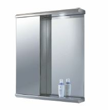 AK Danum SS 1 Door 1 Side Shelf with Mirror Cabinet 730x600x130