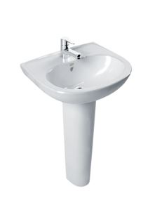 American Standard Wash Basin Full Pedestal Simple Round 430X495X190