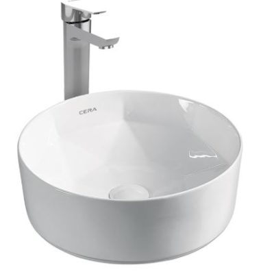Cera Wash Basin Over Counter Thin Rim Canisa 405