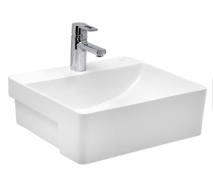 Cera Wash Basin Semi Recessed Thin Rim Colga 500X420