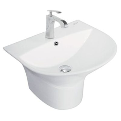 Cera Wash Basin Thin Rim 1Piece Cisco 480x425x365