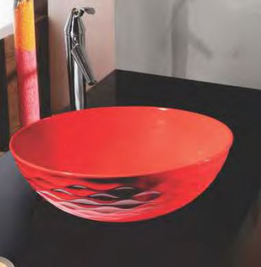 Mozio Wash Basin Bowl CBM Red 410x410x140