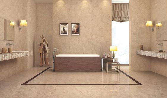 Simpolo Vitrified Tile Double Charge Perlato Brown 1500x800