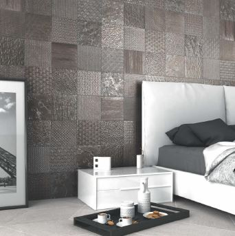 Spanish Ceramic Wall Tiles Glint Antracita 450x450