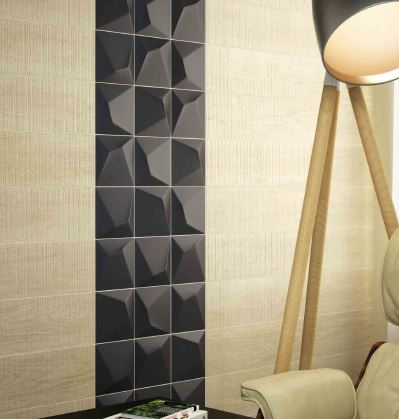Spanish Ceramic Wall Tiles Optic Antracita 148x148
