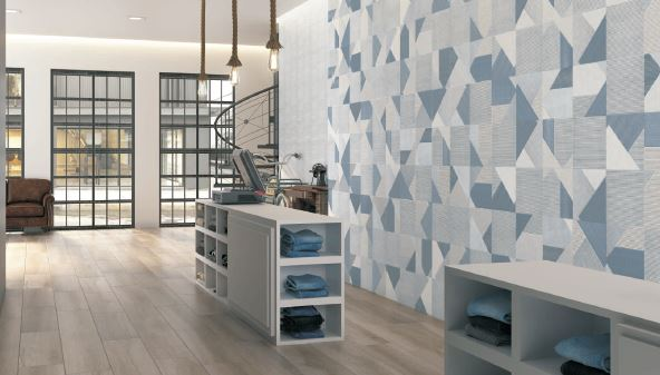 Spanish Ceramic Wall Tiles Strips Mix Denim 250x250