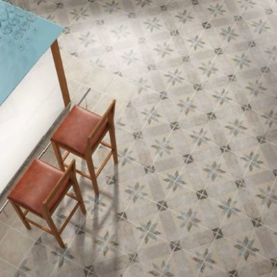 Spanish Vitrified Tile GVT Pompei Star Blue 250x250