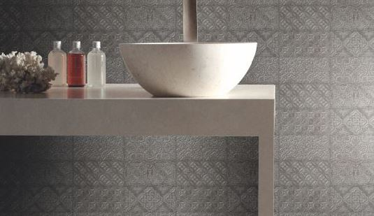 Spanish Wall Tiles Ceramic Dante Decor Grey 240x120