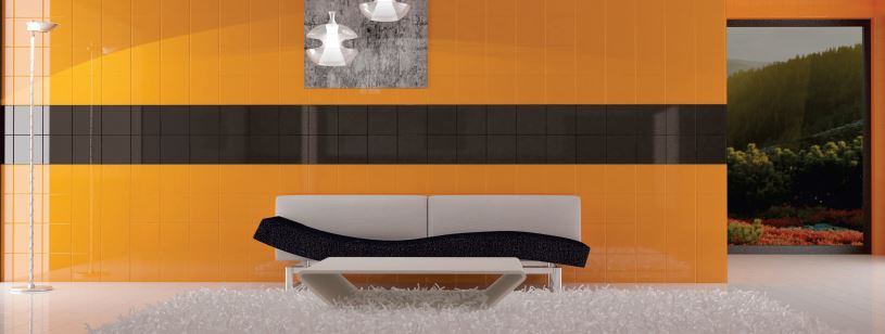 Starco Ceramic Wall Tile  Orange+Black 200x200