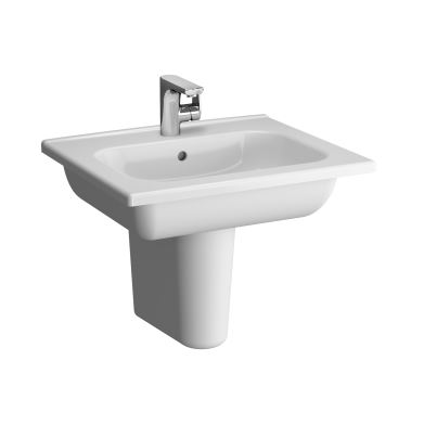 Vitra Wash Basin Semi Pedestal with Towel Holder d Light 60
